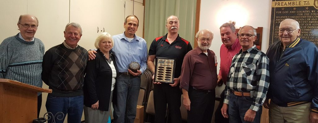 CSAHS Trustees along with the 2016 Historian of the Year Recipients Shown are Trustees Bill Thull, Dan Steil, Rita Hennen; Historian Award Recipient John Decker, Historian Award Recipient Scott Bender (General Manager of the CSBrewing Company) and Trustees Cliff Johnson, Jim Dwyer, Dave Mehr, Don Jungles. Not shown are Trustees Ray Schouviller and Scott Larson.